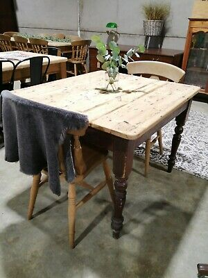 Antique Victorian Pine Kitchen Scullery Table - farmhouse | country