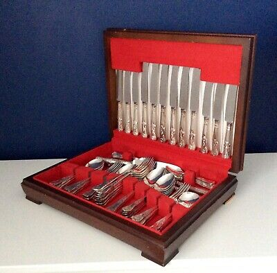 KINGS Design GEORGE BUTLER Sheffield Silver Service 62 Piece Canteen of Cutlery