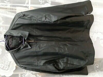 John Lewis Black Real Leather Zip Up Jacket Men XXL Soft Leather