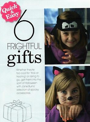 ~ Pull-Out Knitting Pattern For Halloween Fright Night Party Projects ~ See Pics