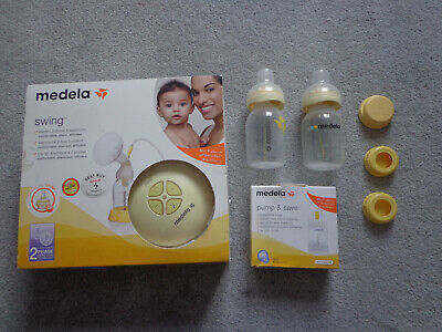 Medela Swing Electric Breast Pump with Calma Teat + Extra Bottles + Storage Bags