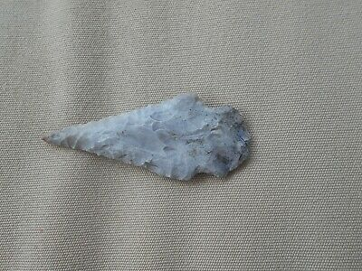 Authentic Indian Arrowhead Artifact Frame Marked Nevada White & Brown Marbled