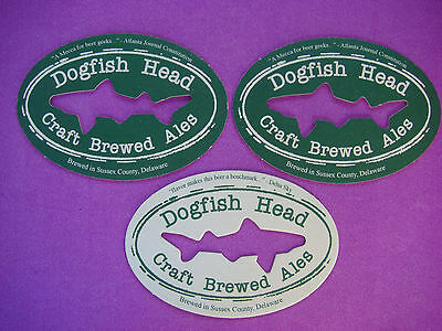 3 Cool DELAWARE Beer Coasters ~*~ Dogfish Head Craft Brewed Ales ~ Sussex County