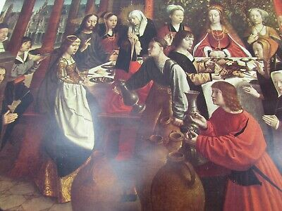 "1956 Vintage FLEMISH /""THE WEDDING AT CANA/"" by GERARD DAVID COLOR Art Lithograph"