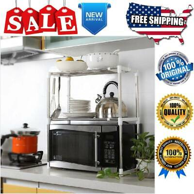 Heavy Duty Microwave Oven Rack Shelf for Kitchen Counter Stainless Steel NEW
