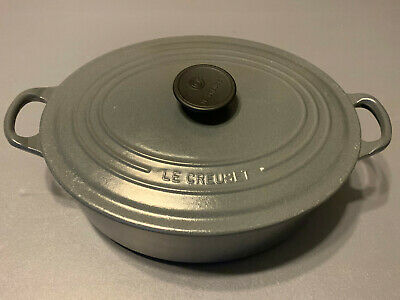Le Creuset 5 Qt. Gray Enameled Cast Iron Oval Dutch Oven