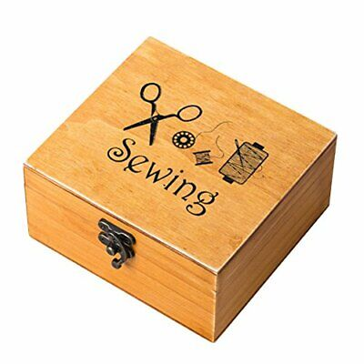 ROSENICE costurero de madera nähzubehör Supplies Kit Work Caja para