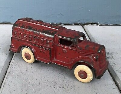 Antique 7 Inch Toy A.C. Williams Cast Iron Gasoline Tanker Truck