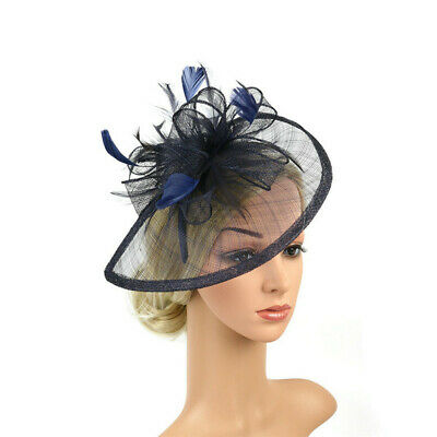 1Pc Headband Aliceband Hat Fascinator Weddings Women Ladies Day Race Royal Ascot