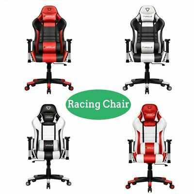 Executive Office Racing Gaming Chair Swivel Pu Leather Computer Desk Sport