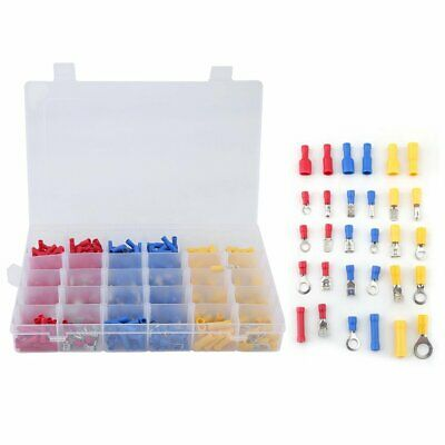 480PCS Assorted Car Electrical Wire Terminal Set Insulated Crimp Connector Spade