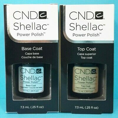 CND Shellac Base and Top Coat UV GEL NAIL Polish 7.3ml NEW