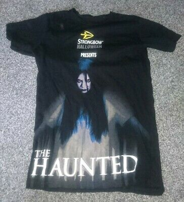Strongbow Halloween T-shirt.  THE HAUNTED Size Large. Colour Black