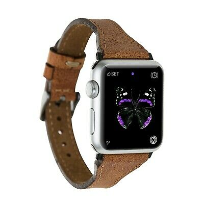 Apple Watch Band, Handmade Genuine Leather for iWatch 1 2 3 4 5, 38/44mm