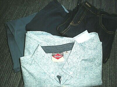 Boys 11-12 yrs M&S Chinos & Jeans BLUE Bundle with FREE BNWOT Lee Cooper Shirt