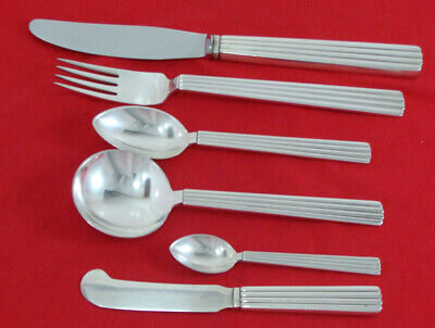 BERNADOTTE by Georg Jensen Sterling 6 piece place setting, No Monogram