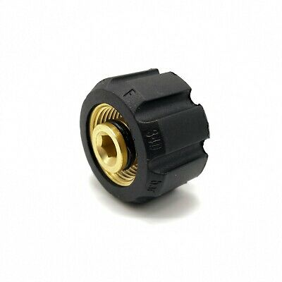 """M22 Female 22mm Thread to 1/4"""" Female Screw Coupling Connector Pressure Washer"""