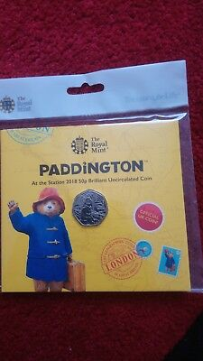 2018 Paddington Bear At The Station 50p Brilliant Uncirculated coin