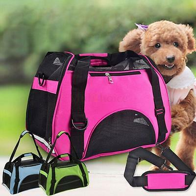 Portable Pet Carrier Soft Sided Small Cat / Dog Comfort Handbag Travel Tote Bag
