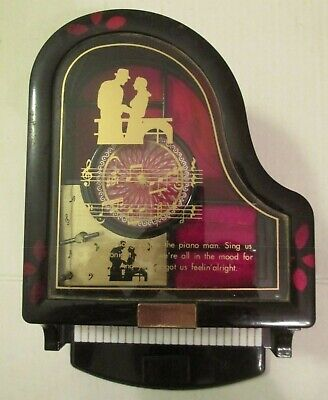 Vintage KINGS Grand Piano Musical Jewelry Box No Dancing Ballerina