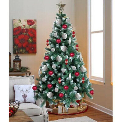 6Ft Christmas Tree Green Decoration Thick Plant Artificial Xmas Stand Festive