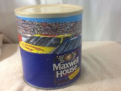 Collectible MAXWELL HOUSE Coffee RACING Unopened 2 lb Collectors Coffee Tin