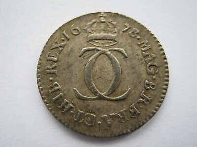 1678/6 Charles II silver Maundy Twopence GVF