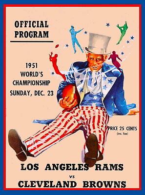 97365 Los Angeles Rams vs Cleveland Browns Football Decor LAMINATED POSTER AU