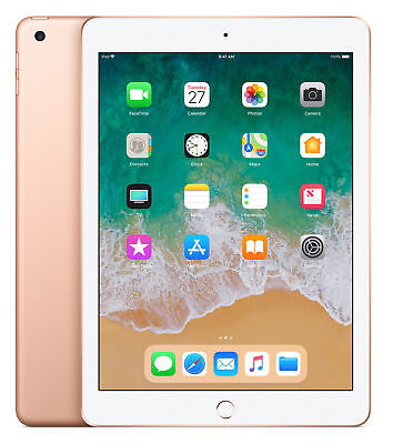 "New & Sealed Apple iPad 6th Gen 128GB Gold 9.7"" WiFi  LOTS OF EXTRAS"