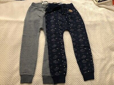 2 X Brand New With Tags Next Boys Stars & Cars Navy & Grey Joggers 5-6 Years