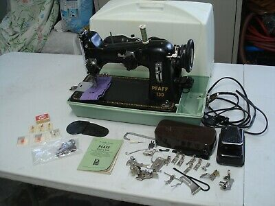 pfaff sewing machine 130 made in west germany w/ twin needles instructions LOOK