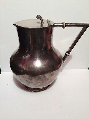 Truscotts Christopher Dresser Style Silver Plated Hot Water Jug Arts And Crafts