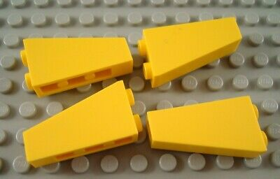 6x LEGO Yellow Slope Inverted 75 2 x 1 x 3 Vintage Pirates 6276 6285 #2449