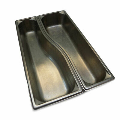 """(Lot of 2) Vollrath 3100040 Wild Pan 3-1/2"""" Deep Stainless Steel Full Pan Size"""