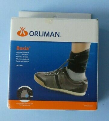 Orliman Boxia Drop Foot Ankle Brace ~ Size 2 ~ Black ~ Model: Ab01 ~ New In Box