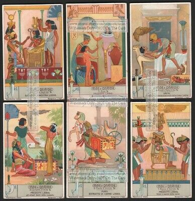 Isis Osiris Egyptian Gods Myths - Set of 6 NICE 1930s Trade Ad Cards