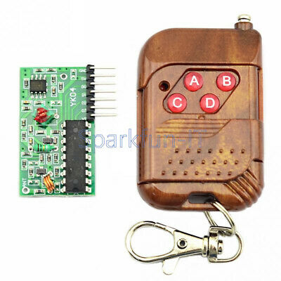 IC2262/2272 4 Channel Wireless Remote Control Kits 4 Key Wireless 433MHZ New