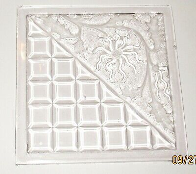 1894 Mosaic Glass Clear Pressed Glass EAPG Addison Floral Geo Window Pane Tile