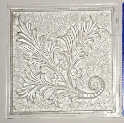 1894 Antique Mosaic Glass Co Clear Pressed Glass EAPG Addison Window Pane Tile
