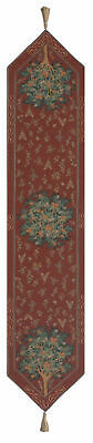 """Orange Tree II Large French Tapestry Jacquard Table Runner 70x14"""""""