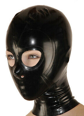 Hot Sale Latex Rubber Mask Schwarz Cool Maske Gummi Hood Masquerade Fixed Size M