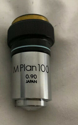 Olympus M PLAN 100x 0.90 Microscope Objective Lens Made in Japan GOOD condition