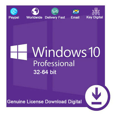 Windows 10 Pro Product Key For Activation 32-64bit For 1 PC Genuine