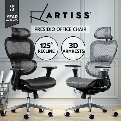 Artiss Office Chair Gaming Chair Mesh Computer Chairs Recliner Black Grey