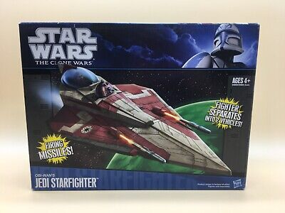 Star Wars The Clone Wars Jedi Starfighter Obi Wan Kenobi's Hasbro 94809 New !