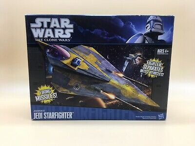Star Wars The Clone Wars Jedi Starfighter Anakin's Hasbro New Nuevo!