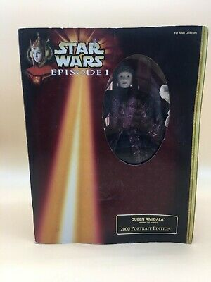 1998 Star Wars Episode I Queen Amidala Portrait Edition Boxed  En Caja !