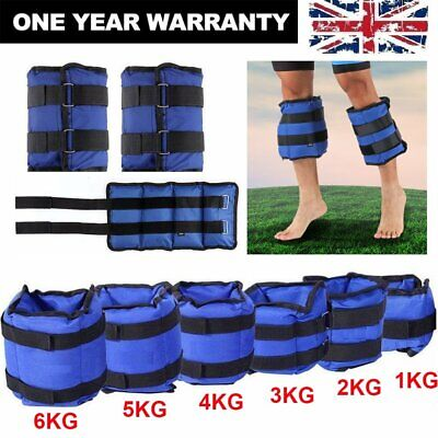 Adjustable Ankle Weights Strap Leg Wrist Running Boxing Bracelet Gym Workout
