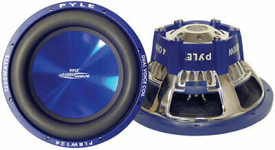 "Pyle Blue PLBW84 8"" 600w Car Subwoofer Sub Bass Driver Car Subwoofer Sub Bass"