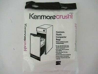 "Kenmore Compactor Trash Bags 10 Ct Pack 15"" Rectangular Drawer Plastic"